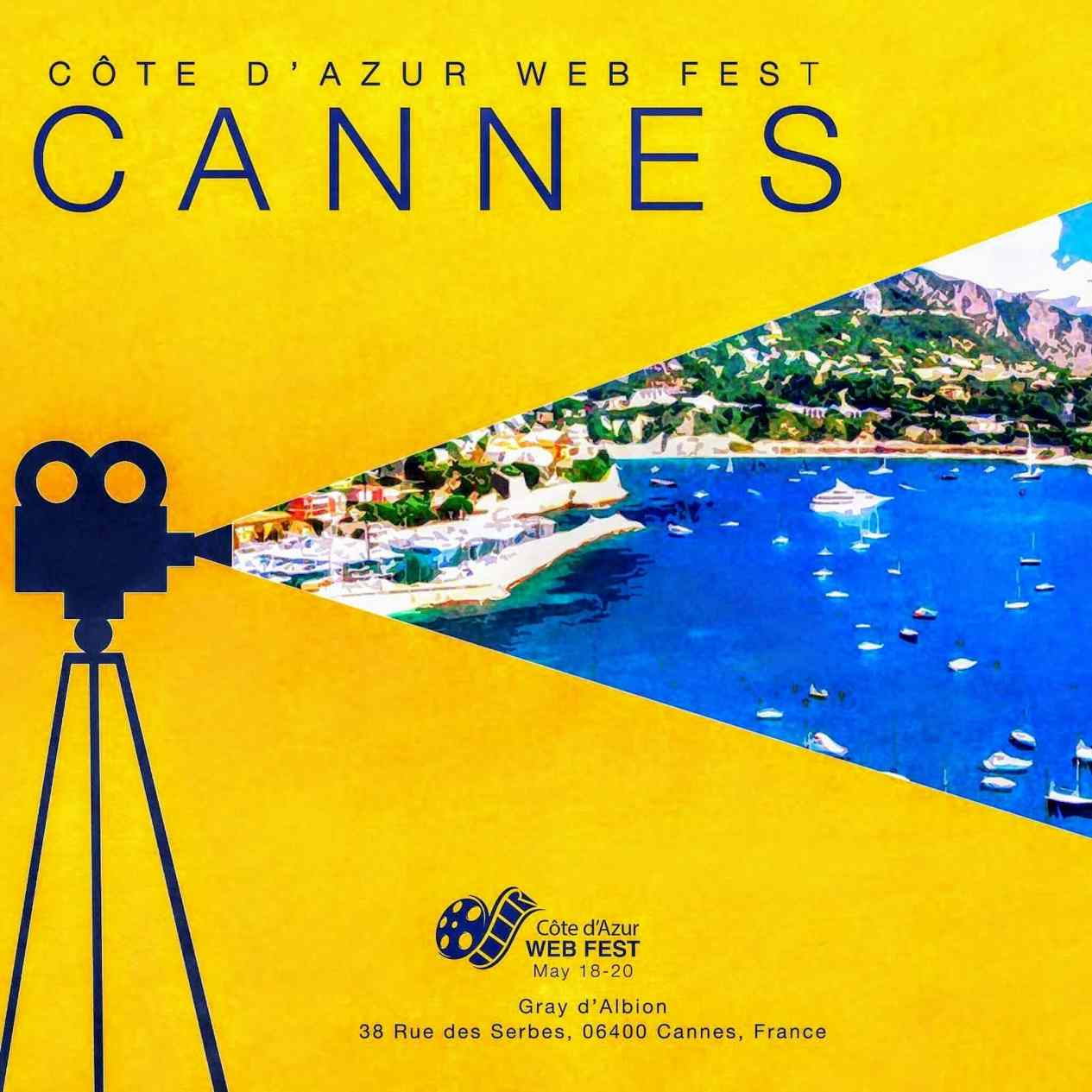 Cote d'Azur Webfest will debut at the 72nd Cannes Film Festival at the Gray d'Albion, Cannes