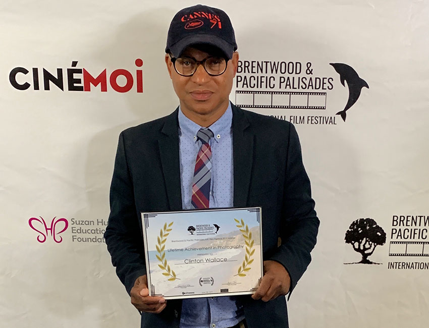 Celebrity photographer/indie filmmaker Clinton H. Wallace was recently honored at the inaugural Brentwood & Pacific Palisades International Film Festival in L.A.